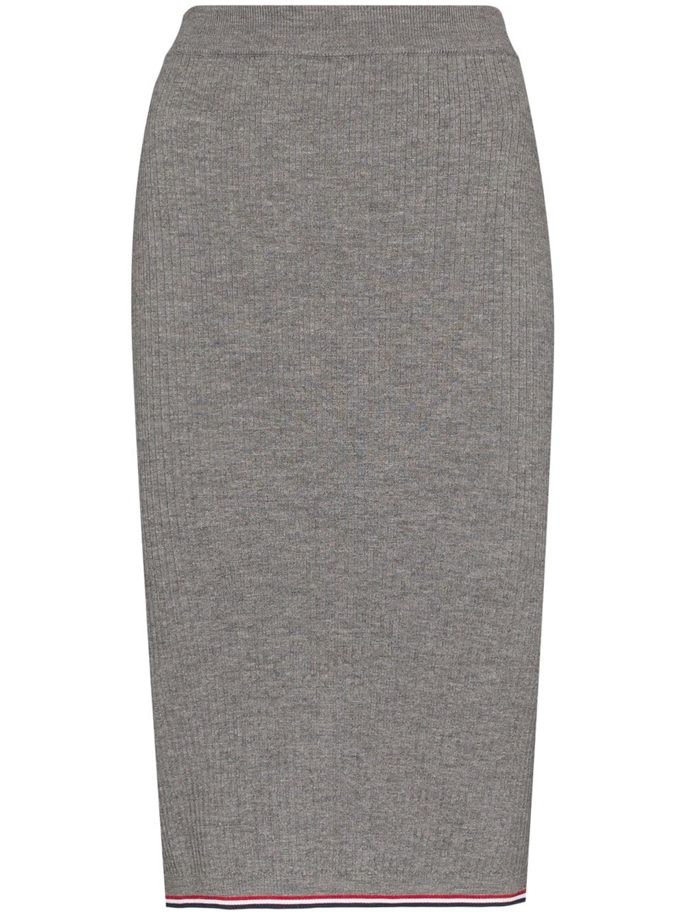 Thom Browne tri-stripe detail ribbed pencil skirt