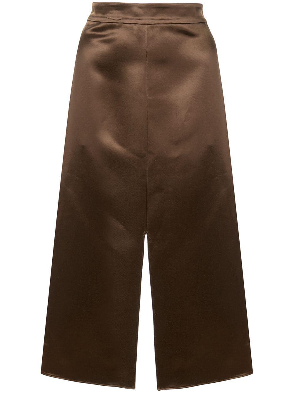 Tibi атласная юбка-карандаш