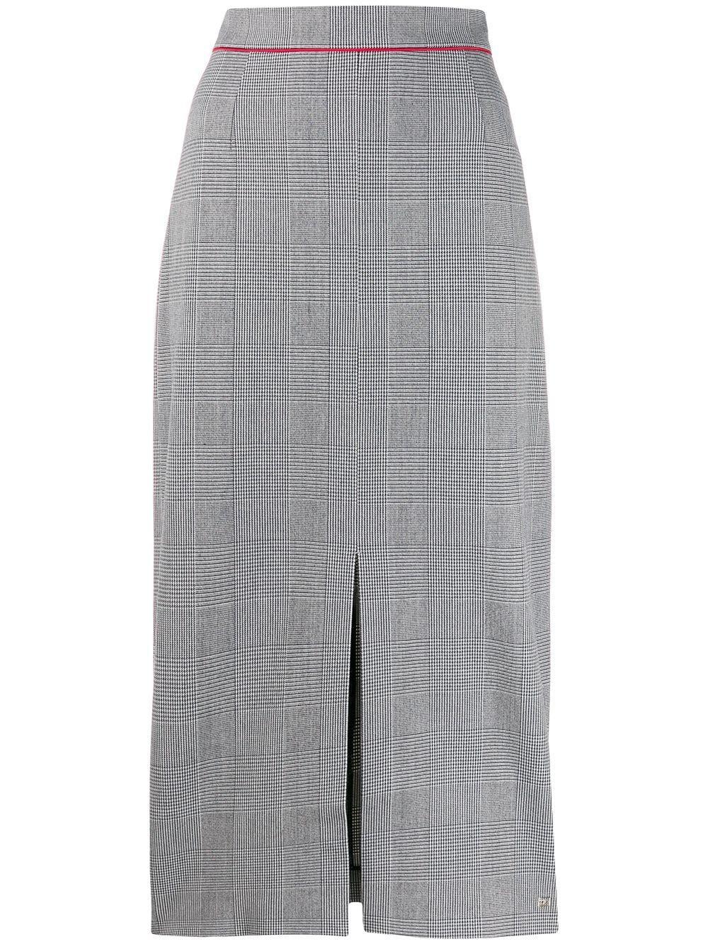 Tommy Hilfiger юбка-карандаш в клетку с завышенной талией