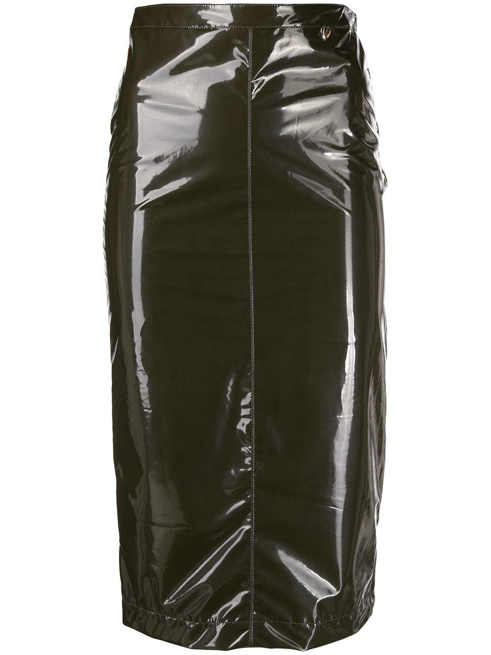 Twin-Set глянцевая юбка-карандаш