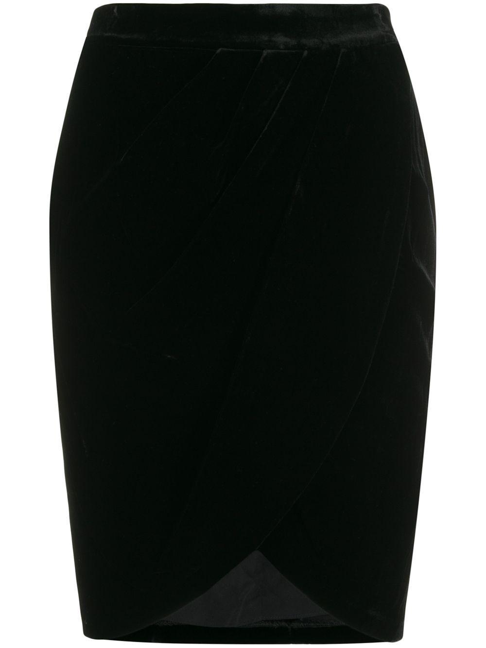 Veronica Beard velvet wrap skirt