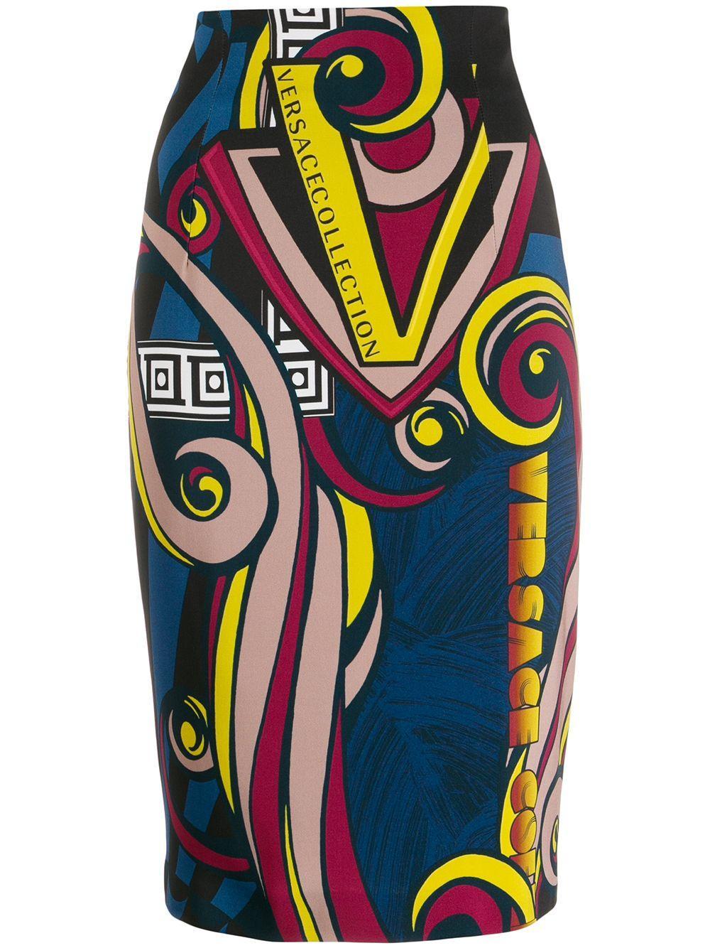 Versace Collection юбка-карандаш с принтом