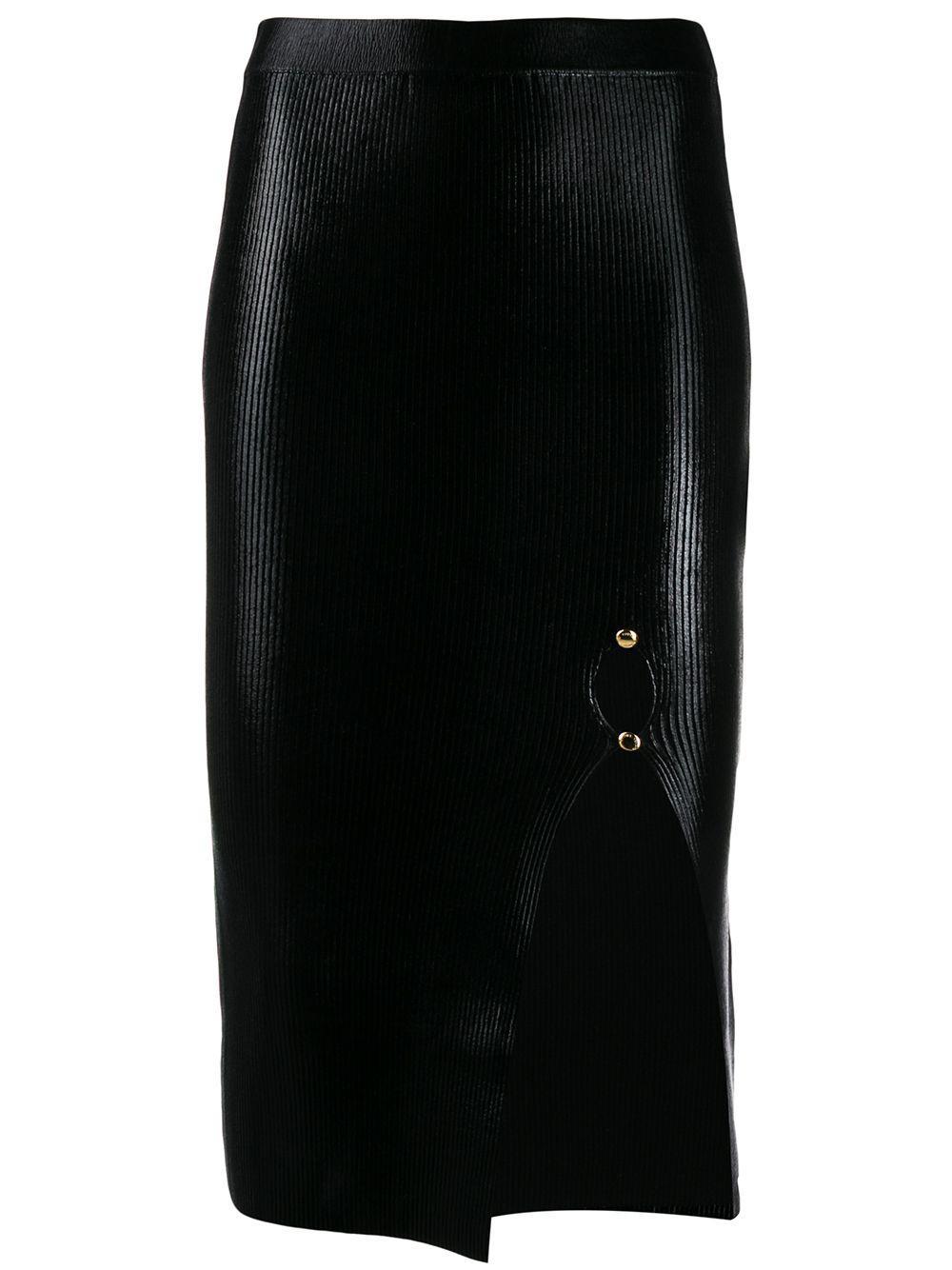 Versace Jeans Couture ламинированная юбка мини