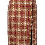Versace твидовая юбка-карандаш