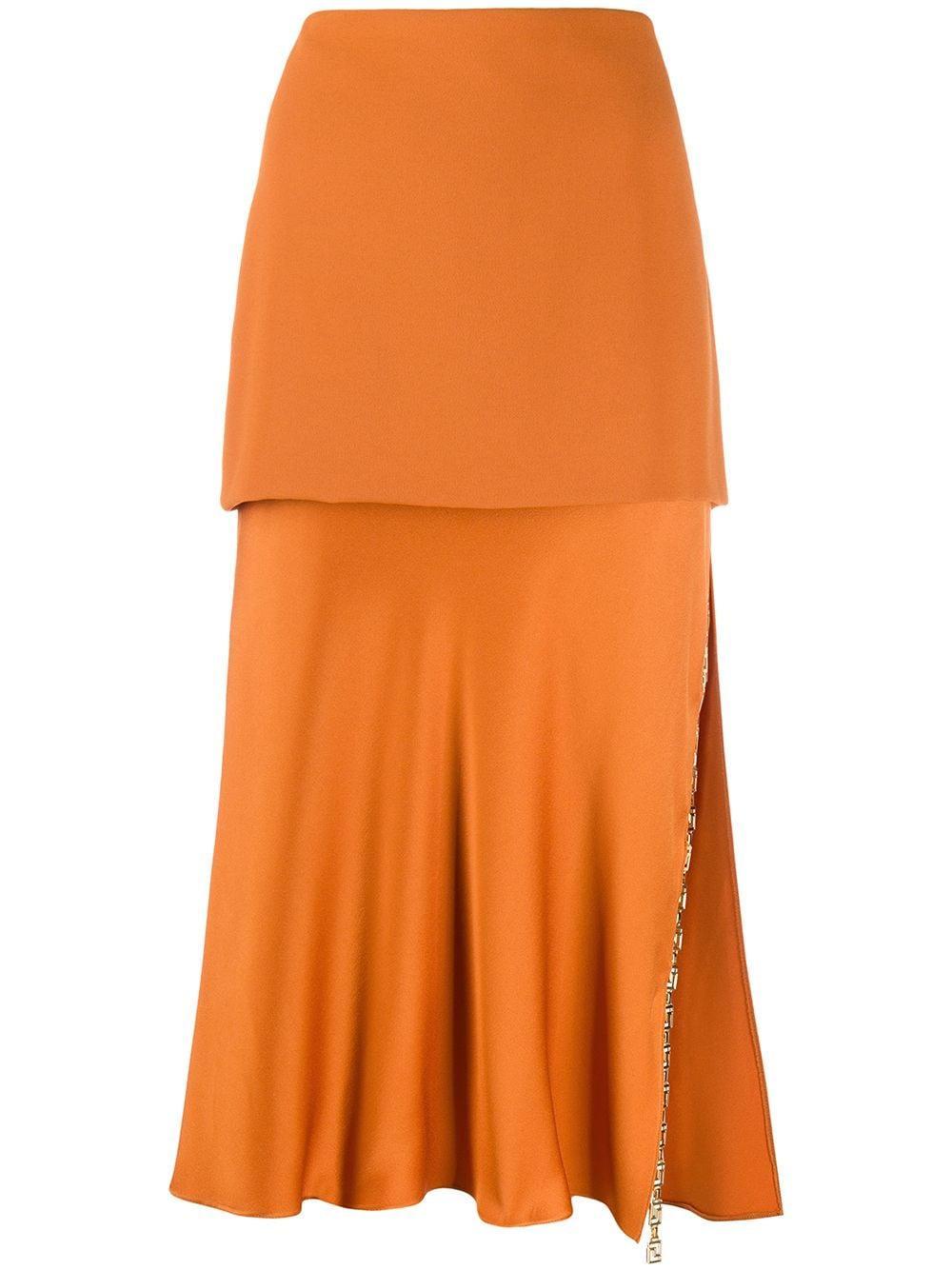 Versace ярусная юбка Greek Key