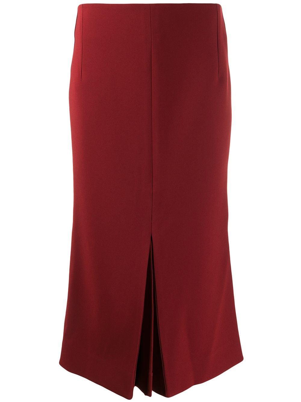 Victoria Beckham юбка миди со складками