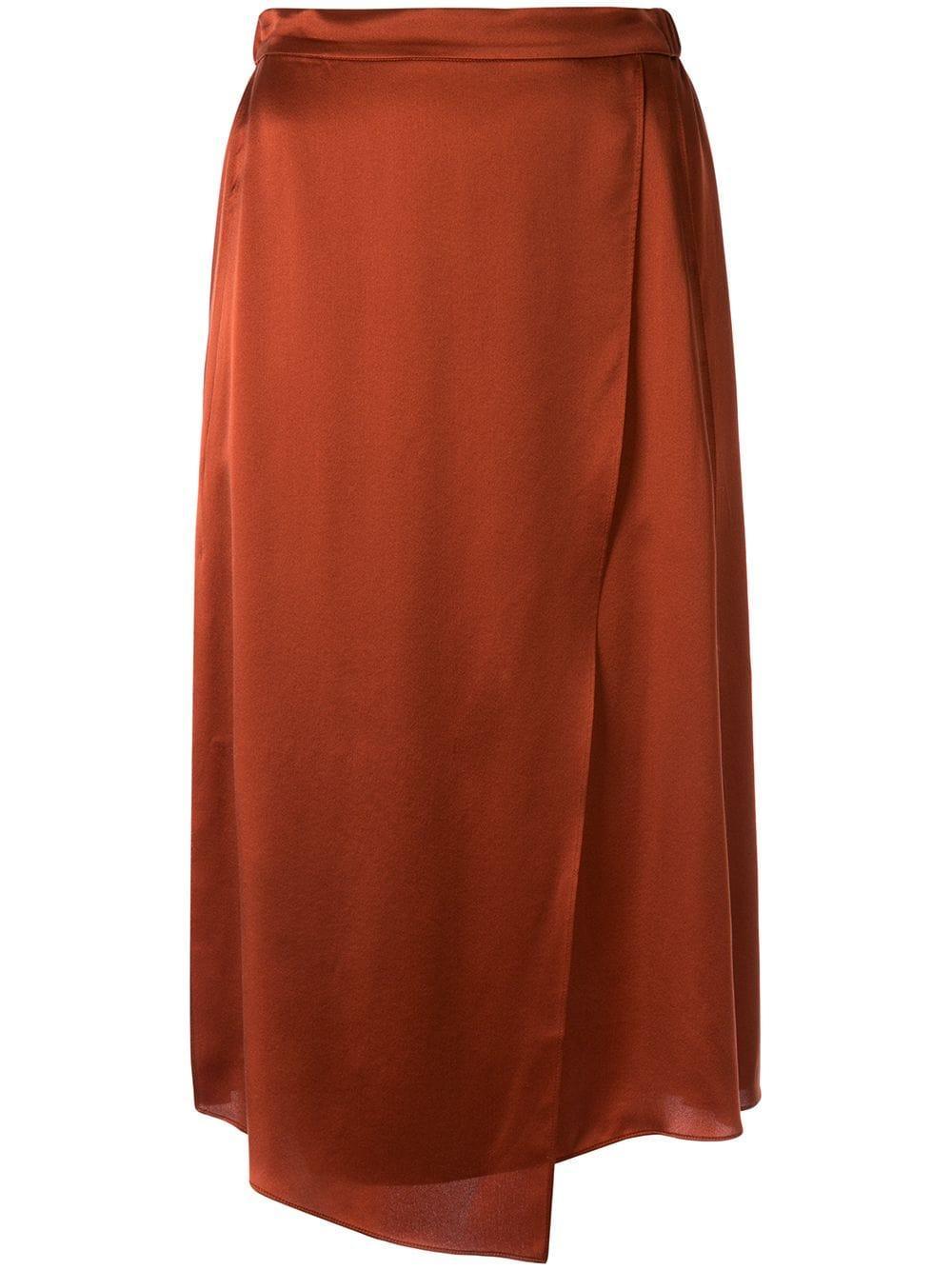 Vince юбка асимметричного кроя