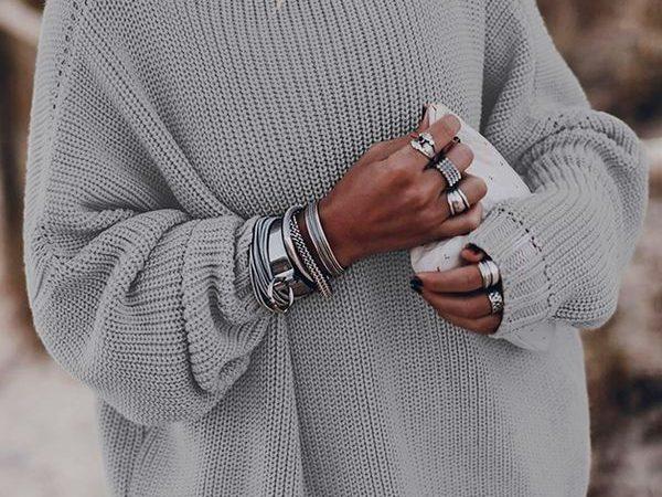Вязаный свитер осень/зима 2020-2021 1357210