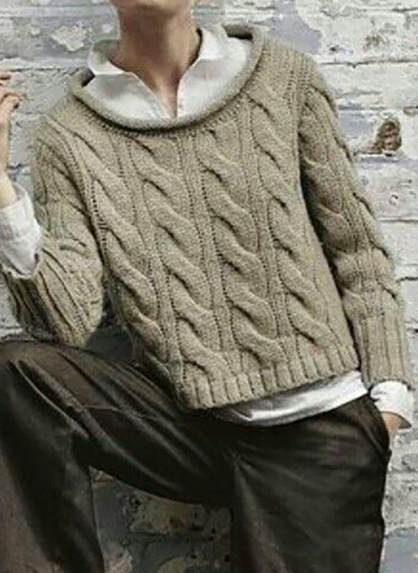 Вязаный свитер осень/зима 2019-2020 1394181
