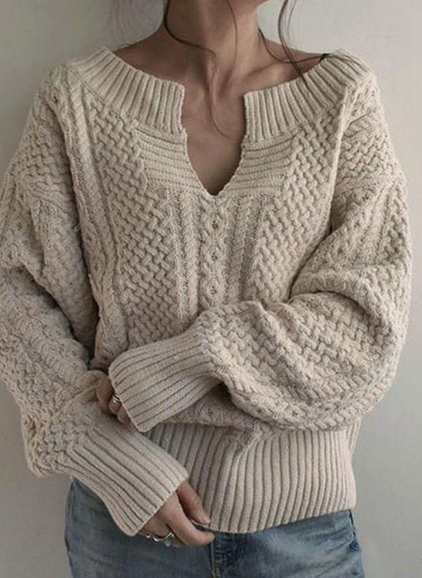 Вязаный свитер осень/зима 2019-2020 1394232