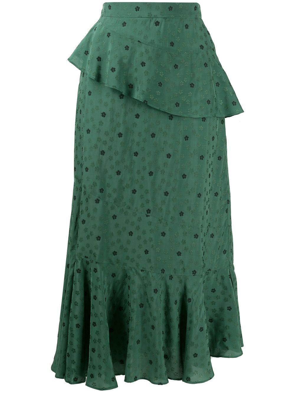 Alexa Chung юбка с цветочным узором и оборками