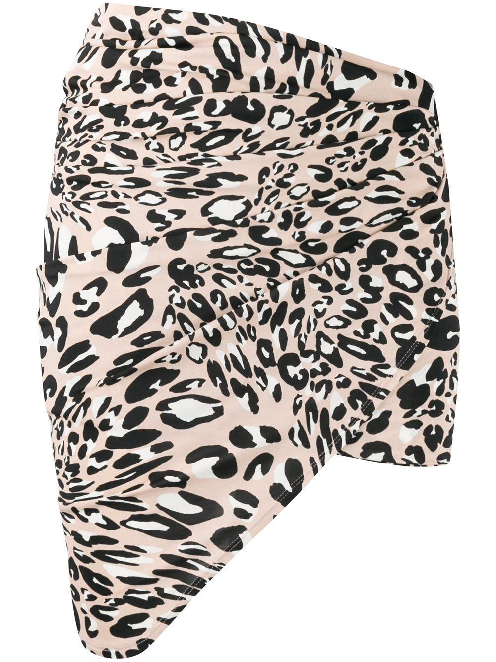 Alexandre Vauthier юбка с леопардовым принтом и запахом