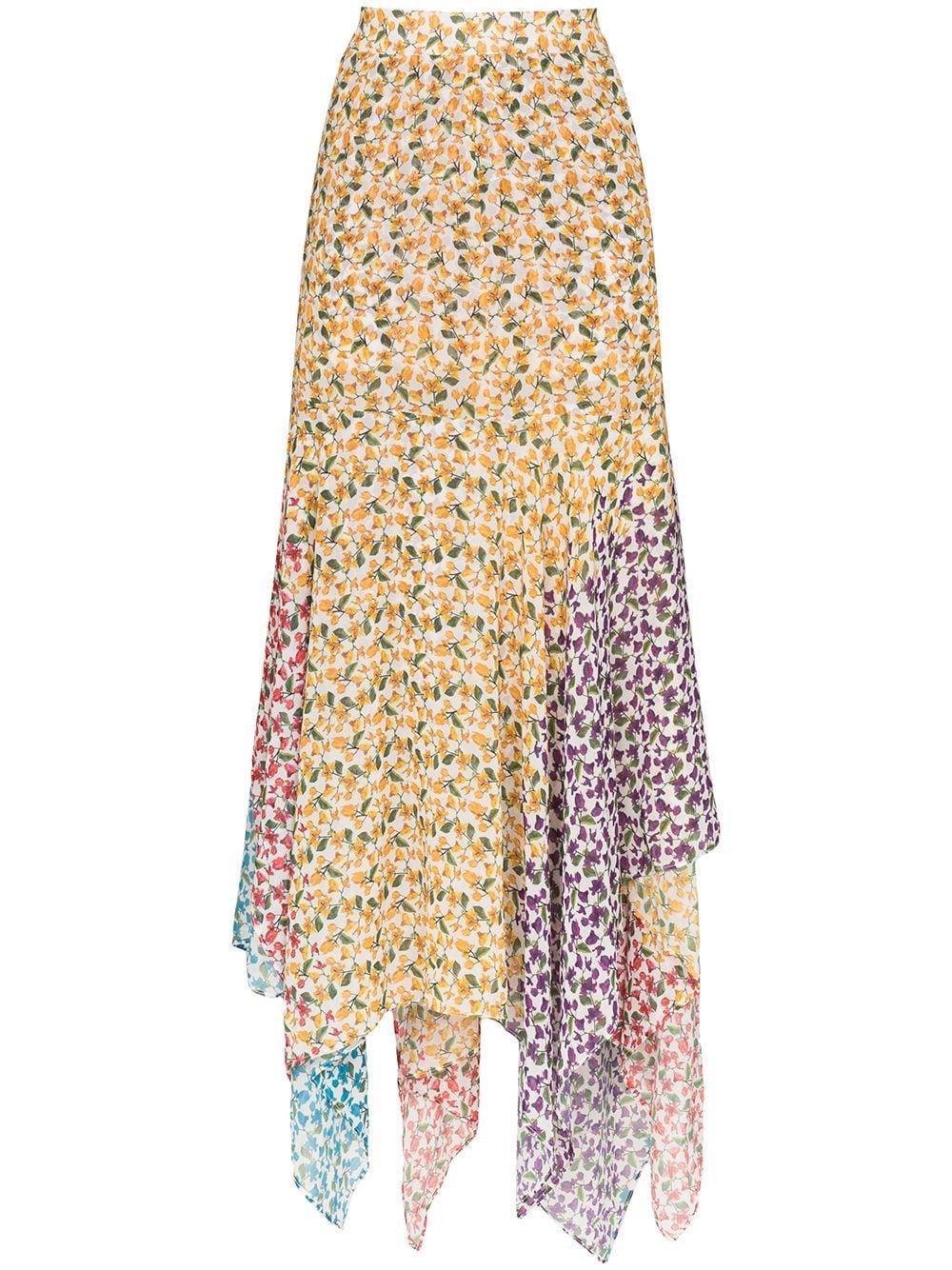 All Things Mochi Elisa asymmetric floral print skirt