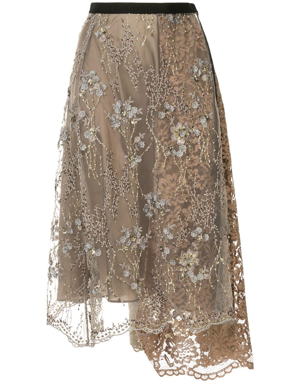 Antonio Marras embellished lace midi skirt