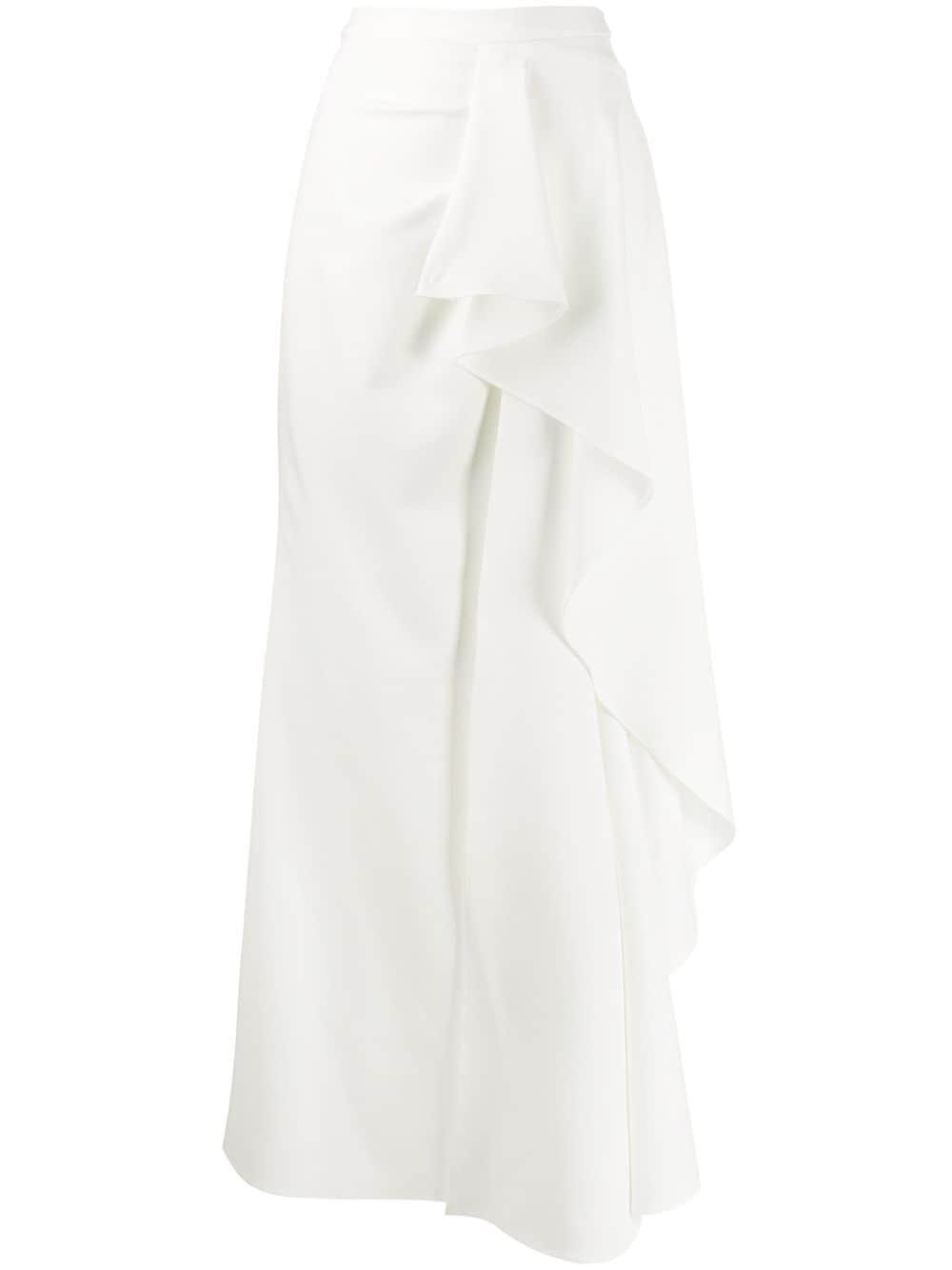 Avaro Figlio asymmetric draped detail skirt