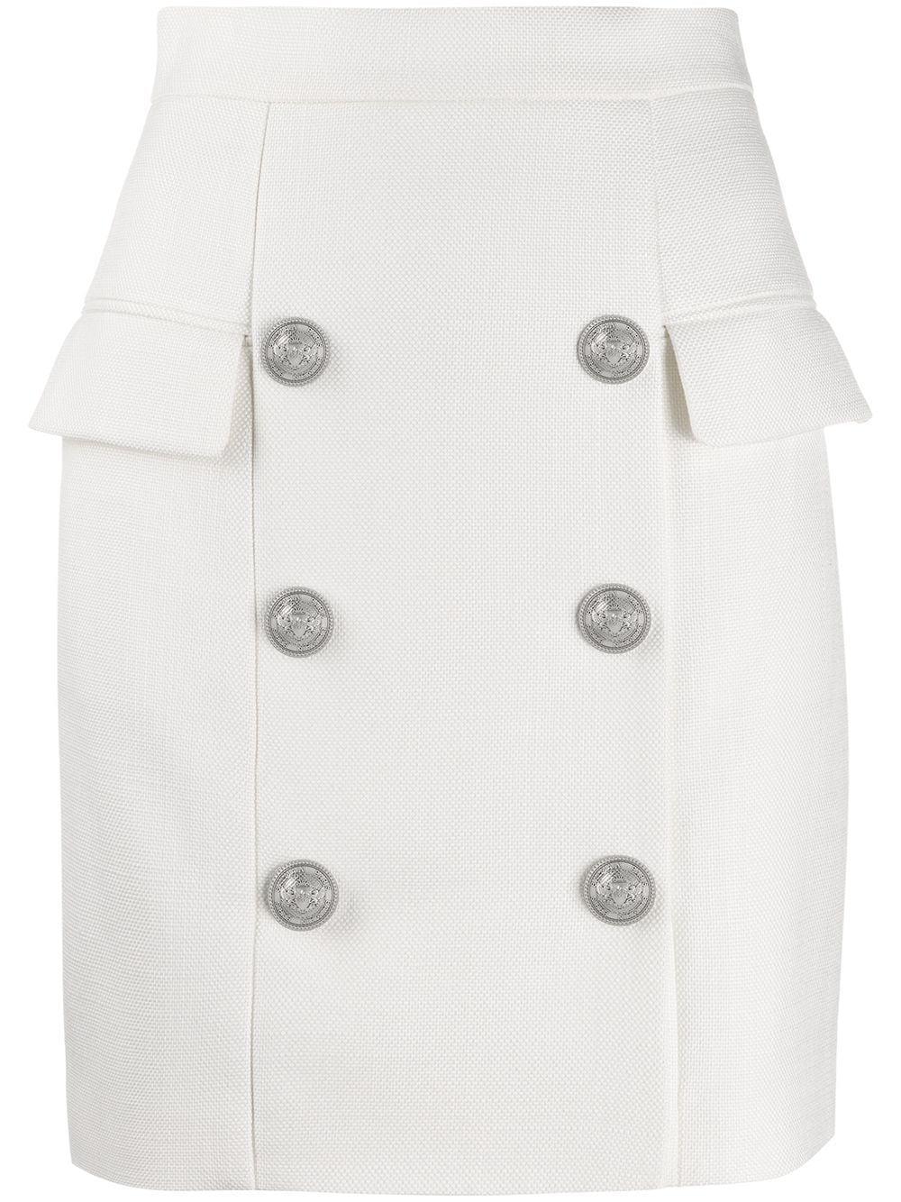 Balmain мини-юбка с пуговицами