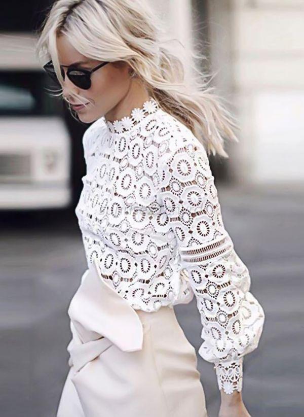 Белая блузка 1255431