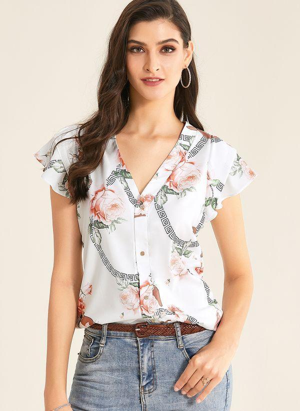 Белая блузка 1345041