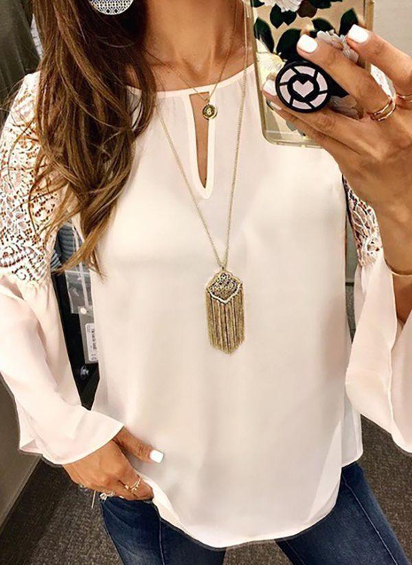 Белая блузка 1408583