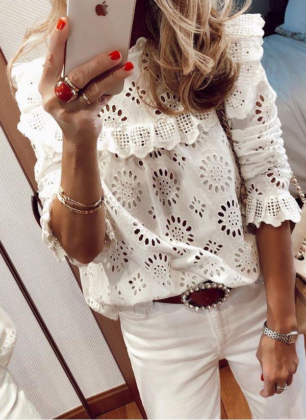 Белая блузка 1425602