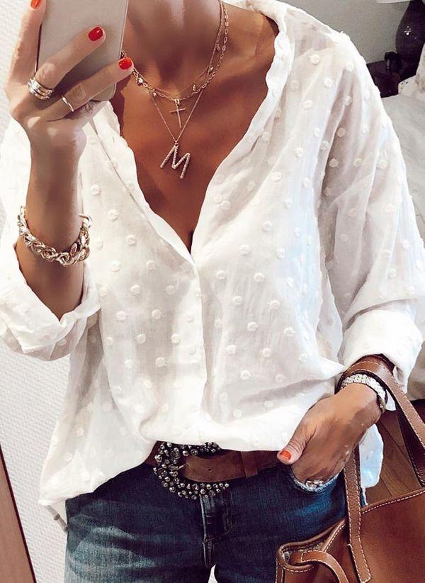 Белая блузка 1425603