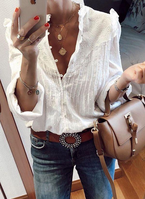 Белая блузка 1425604