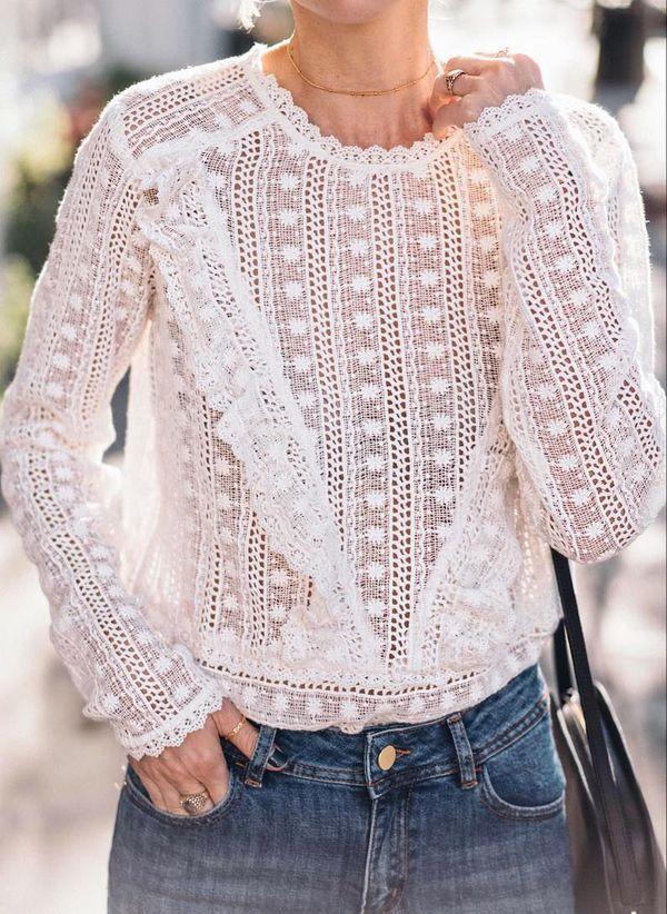 Белая блузка 1425622
