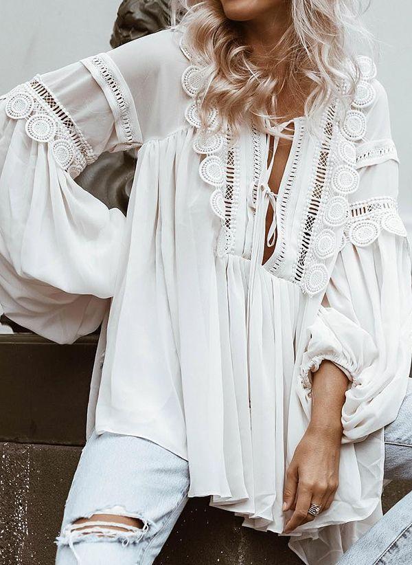 Белая блузка 1425626