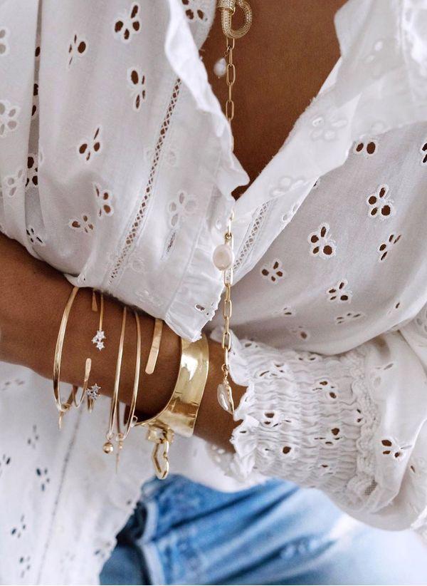 Белая блузка 1425631