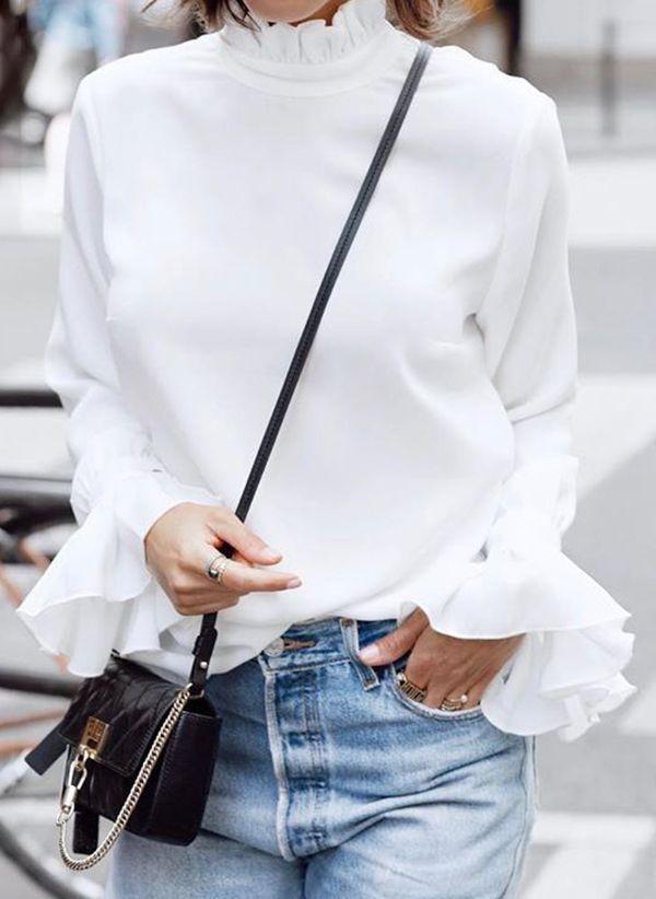 Белая блузка 1425632