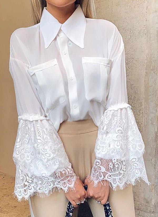 Белая блузка 1425647