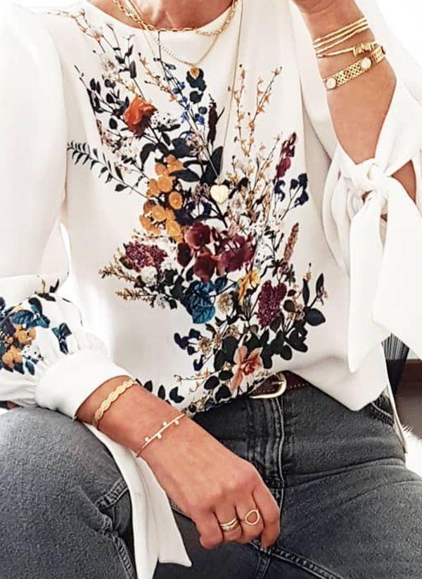 Белая блузка 1430703