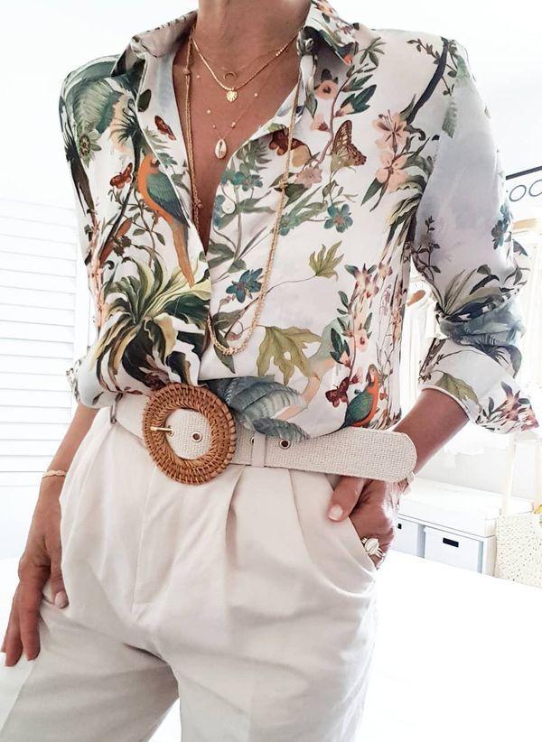 Белая блузка 1432075