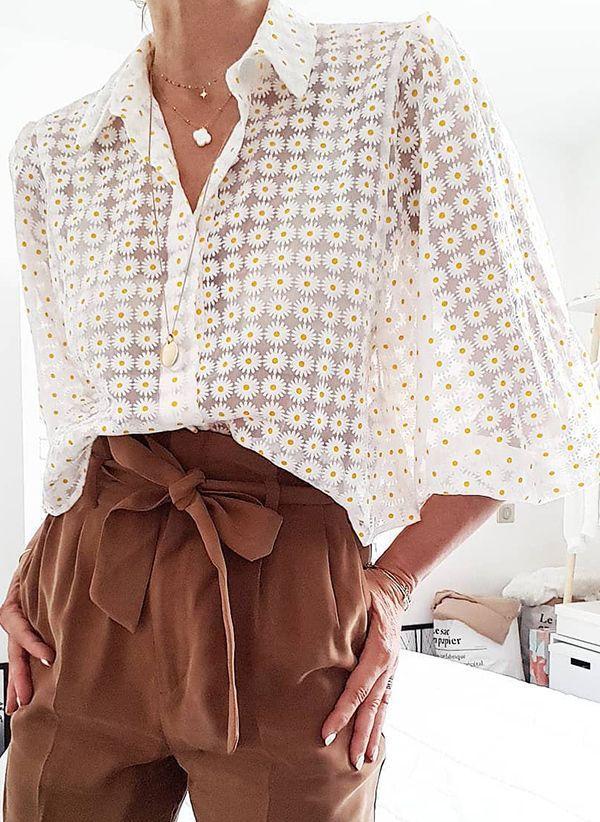Белая блузка 1432077