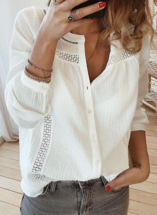 Белая блузка 1432117