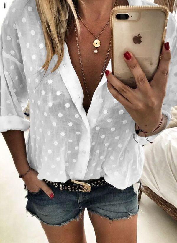 Белая блузка 1435500