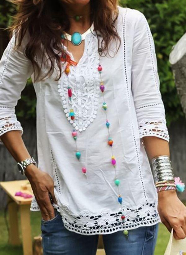 Белая блузка 1439736