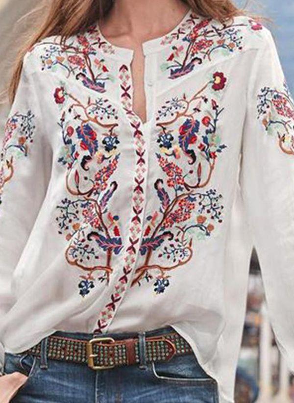 Белая блузка 1442134