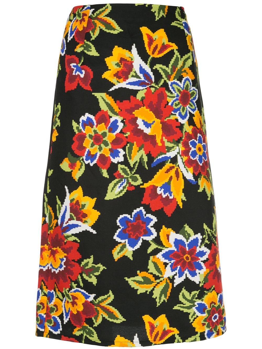 Carolina Herrera юбка-карандаш с цветочным принтом