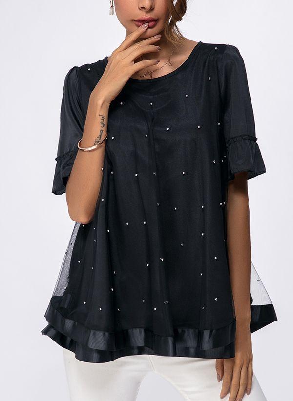 Черные блузки 1050554