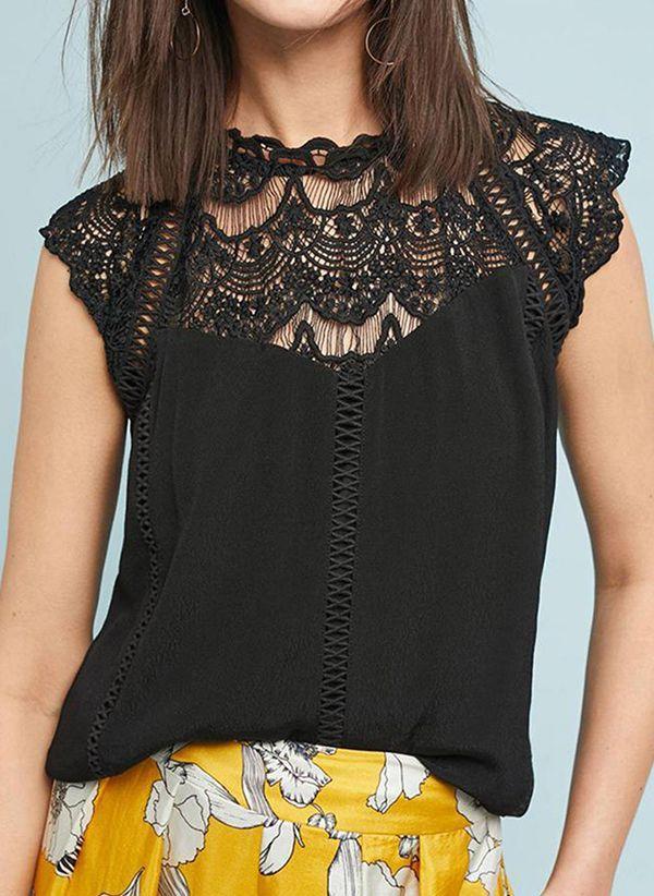 Черные блузки 1300892