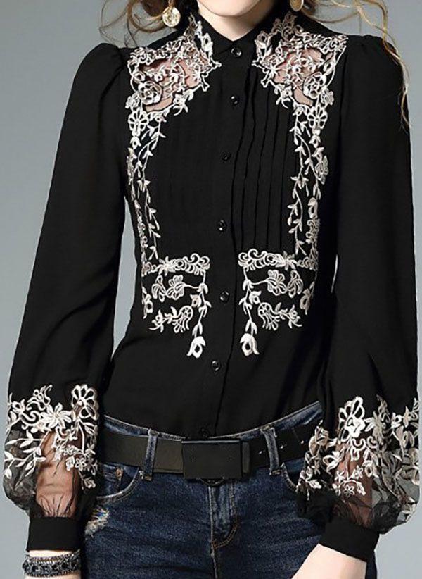 Черные блузки 1312025