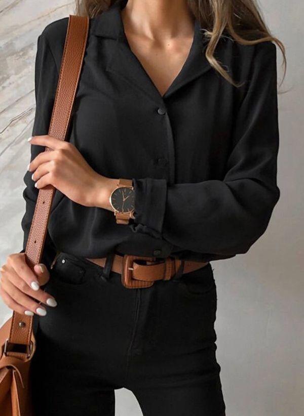 Черные блузки 1435446