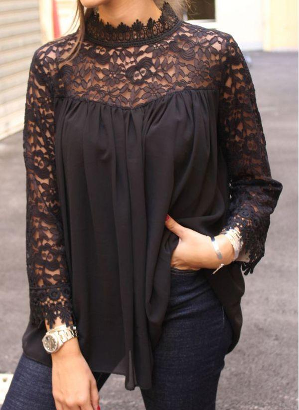 Черные блузки 1445770