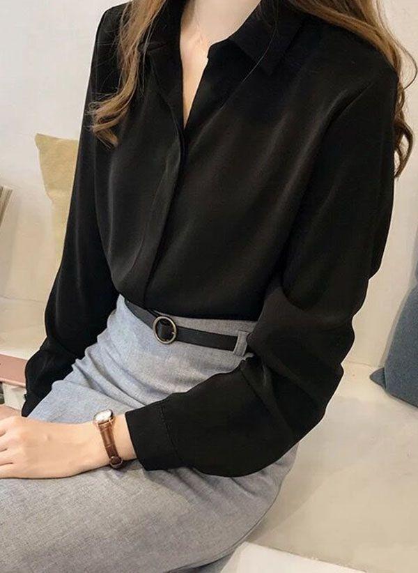 Черные блузки 1467028