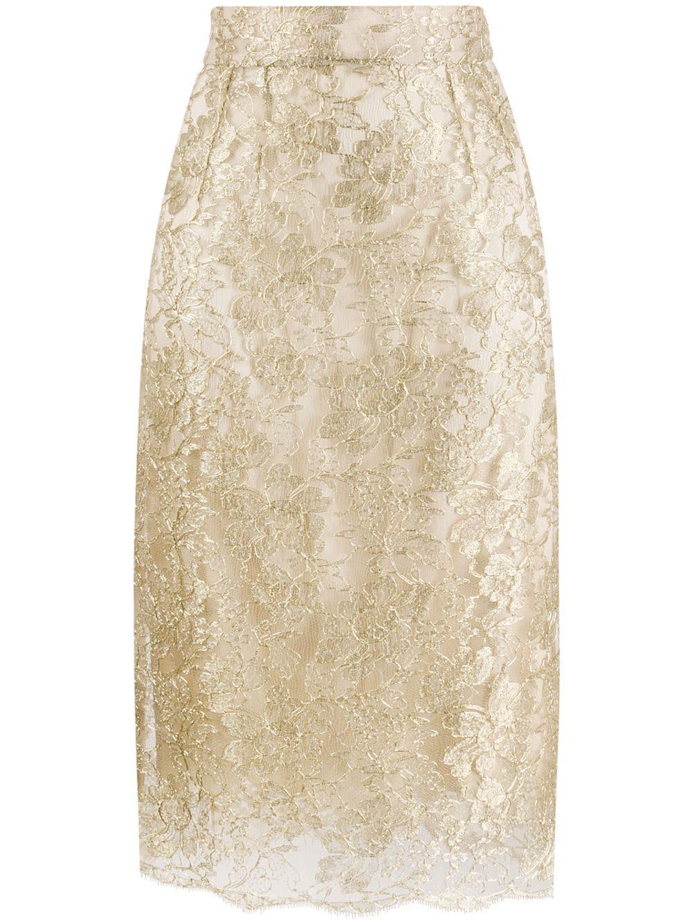 Dolce & Gabbana кружевная юбка