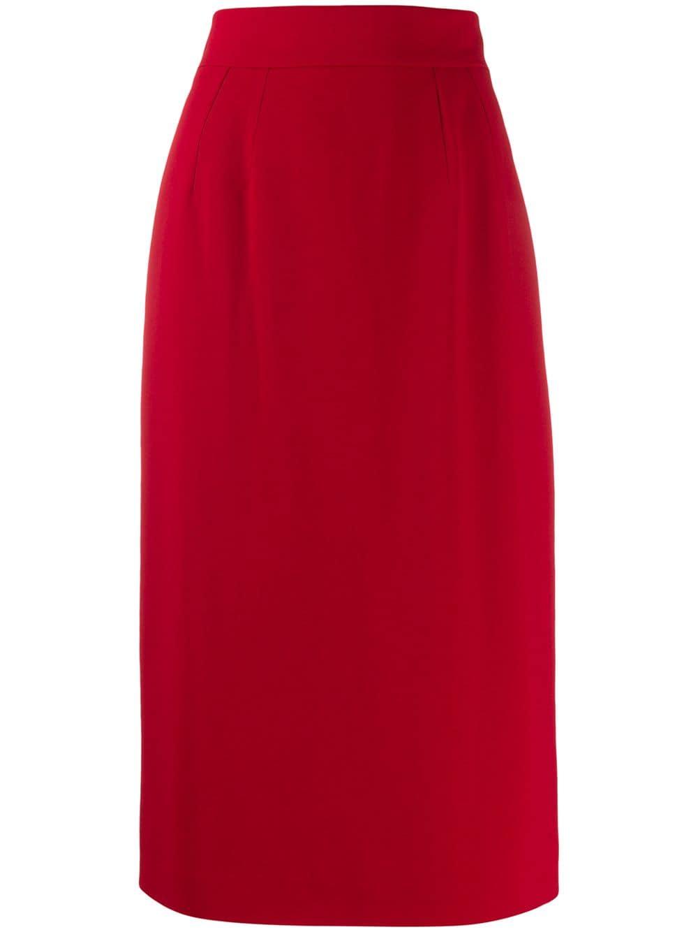 Dolce & Gabbana юбка-карандаш с завышенной талией