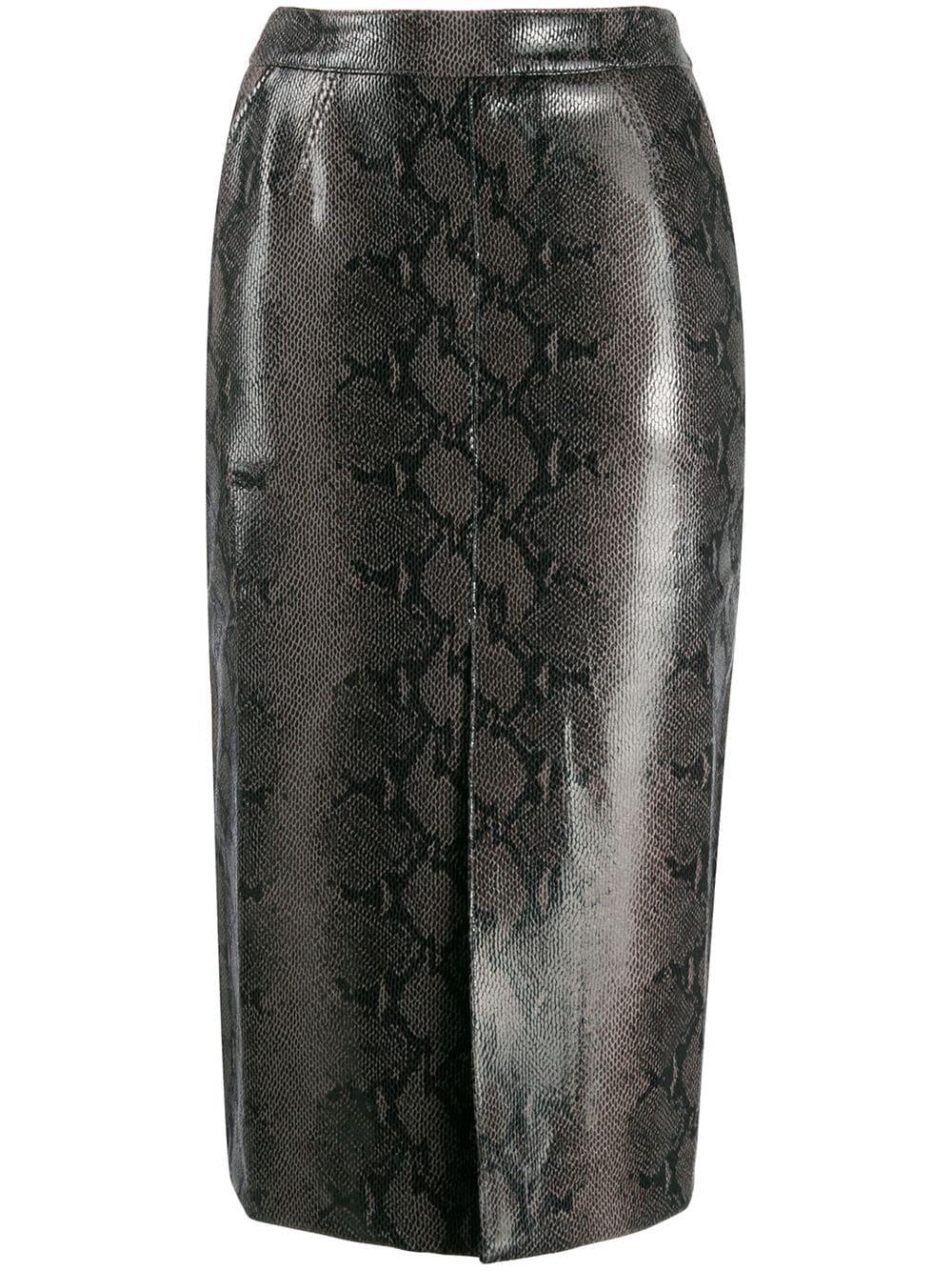 Essentiel Antwerp юбка-карандаш с тиснением под змеиную кожу