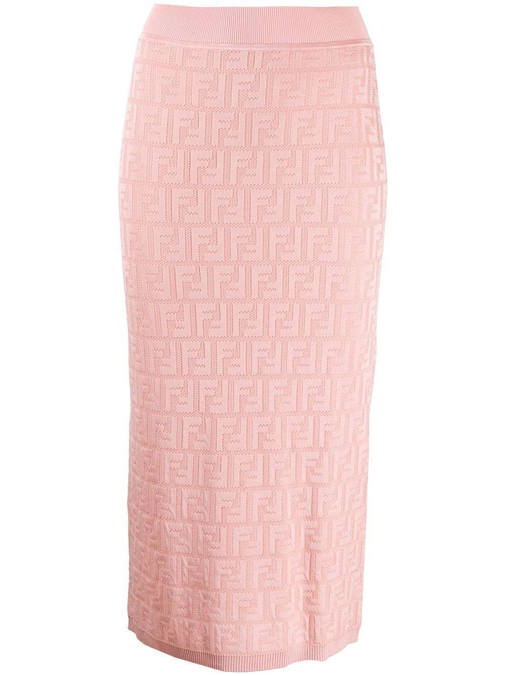 Fendi юбка-карандаш с логотипом FF