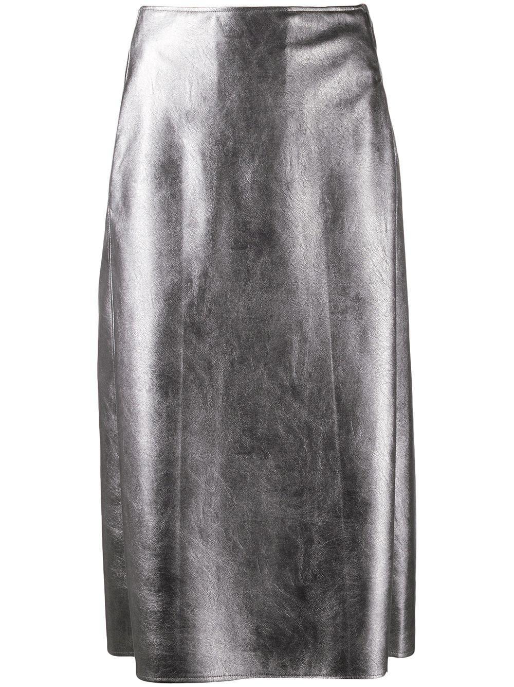 Incotex юбка-карандаш из искусственной кожи